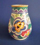 Poole Pottery V Pattern 'Leo the Lion' Vase c1935